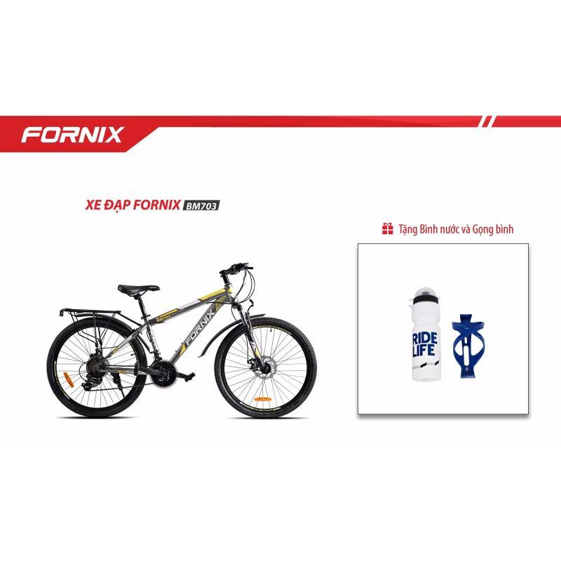 Mua Xe đạp địa hình Thể Thao Fornix- BM703- màu xám vàng + Tặng Gọng - Bình nước