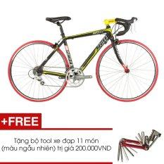 Xe đạp đua JETT MATCH 1.0 BLK (Đen) + Tặng 1 bộ Tool xe đạp 11 món màu sắc ngẫu nhiên