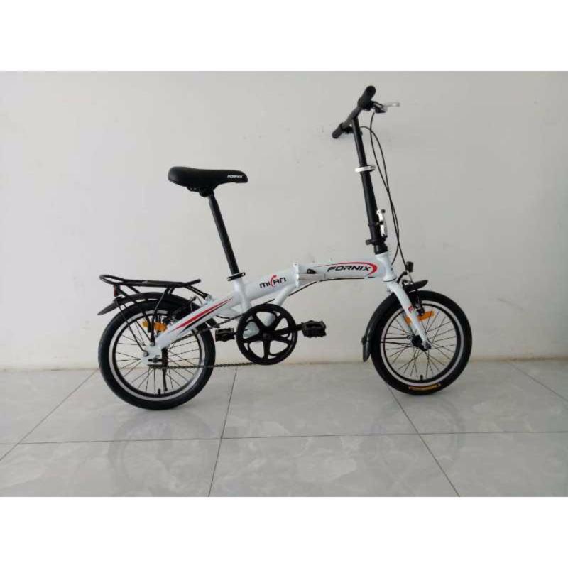 Mua Xe đạp gấp hiệu FORNIX, mã MILAN  ( Trắng )