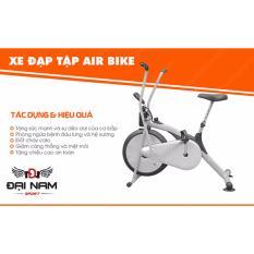 [Lấy mã giảm thêm 30%]Xe đạp tập thể dục đa năng Air Bike mẫu 2020 thế hệ mới + Tặng con lăn tập bụng 4 bánh
