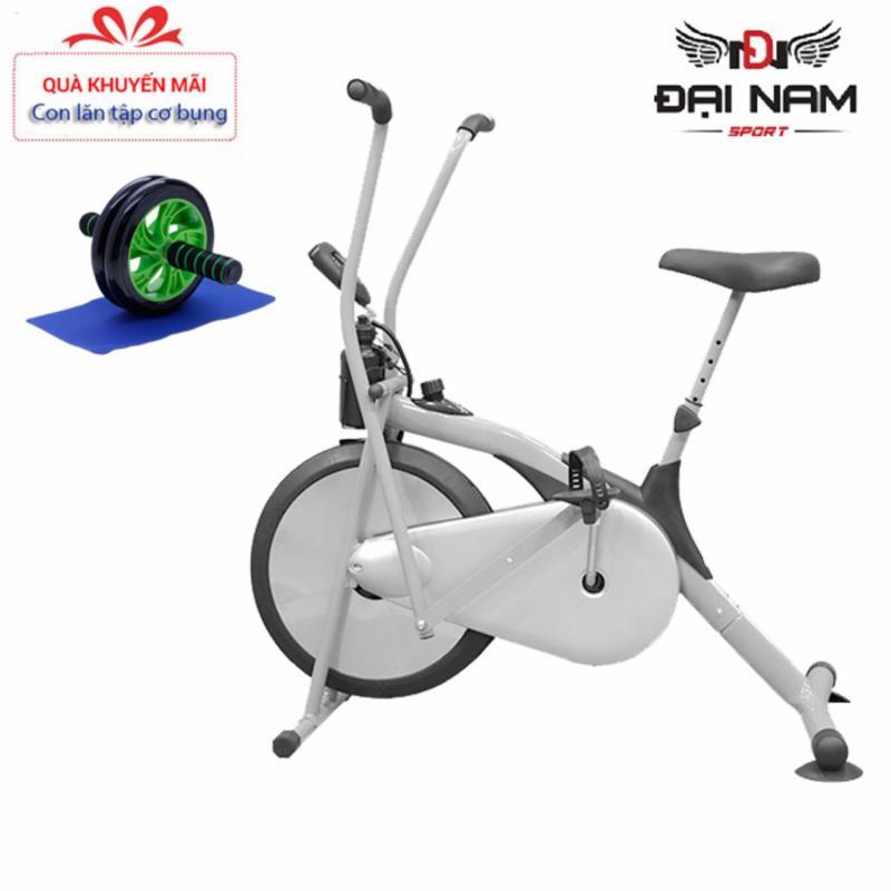 Xe đạp tập trong nhà,xe đạp tập liên hoàn Air Bike thế hệ mới 2020 + Tặng con lăn tập cơ bụng