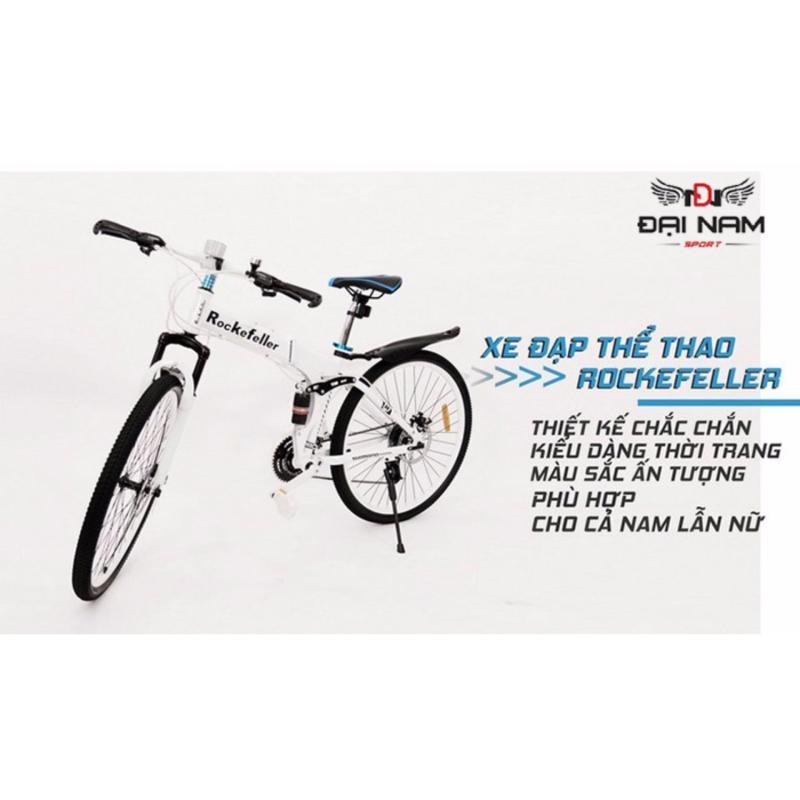 Mua Xe đạp thể thao địa hình gấp gọn Rockefeller (Trắng)