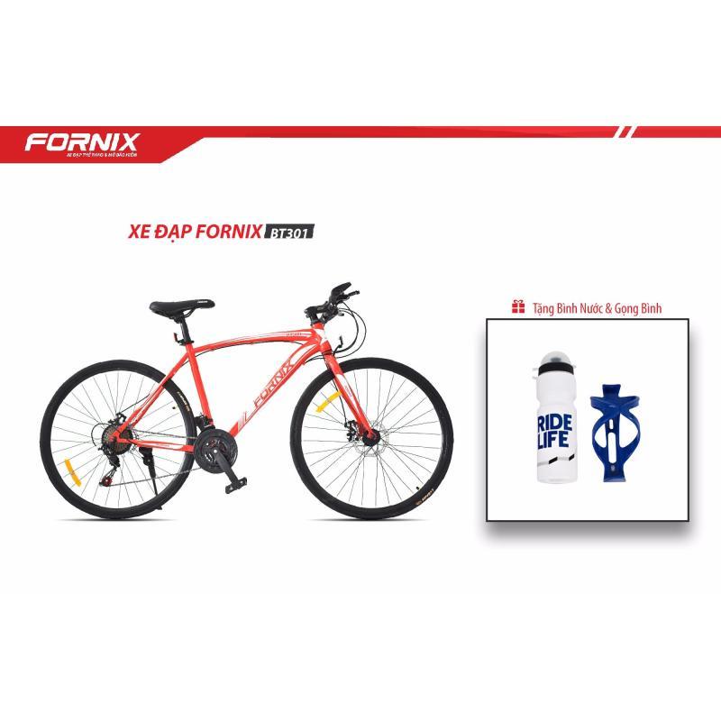 Phân phối Xe Đạp Thể Thao Fornix BT301 ( Đỏ bạc )+ Tặng bình và gọng bình nước