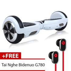 Bán Xe Điện Thăng Bằng Thong Minh Smart Drifting Scooter Trắng Tặng Tai Nghe Bidenuo G780