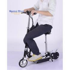 Xe scooter điện E-Scooter 15km/h, tải trọng 80kg, 120w an toàn cho người sử dụng (Đen)