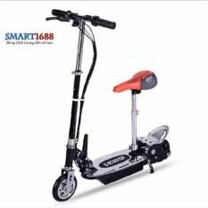 Hình ảnh Xe scooter điện E-Scooter 15km/h, tải trọng 80kg, 120w chất liệu cao cấp (Đen)