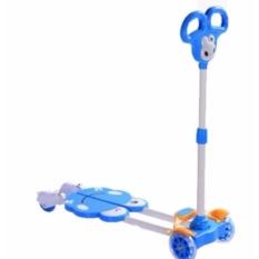 Giá bán Xe trượt Scooter 4 bánh cho bé (Xanh dương) + tặng kèm bộ bảo vệ tay chân cho bé.