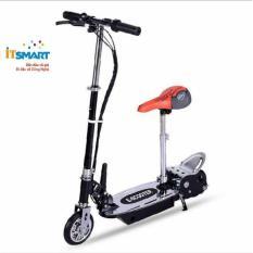 Hình ảnh Xe trượt scooter điện E-Scooter 15km/h, tải trọng 80kg, 120w phụ hợp mọi lứa tuổi (Đen)