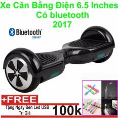 Xe Tự cân bằng điện 6.5 inches Có bluetooth 2017(Đen) + Đèn Led USB-Hàng Nhập Khẩu