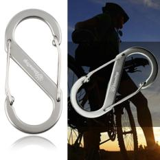 Hình ảnh XIN 1pcs 8-type Metal Keychain Buckle Survival Gear Hook Carabiner Travel Kit Silver - intl