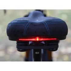 yên xe đạp siêu êm tích hợp đèn cảnh báo an toàn cho người điều khiển