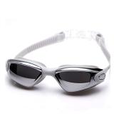 Bán Yuke 880 Unisex *d*lt Waterproof Anti Fog Uv Protective Electroplating Swimming Goggles Swim Glasses Silver Grey Intl Nhập Khẩu