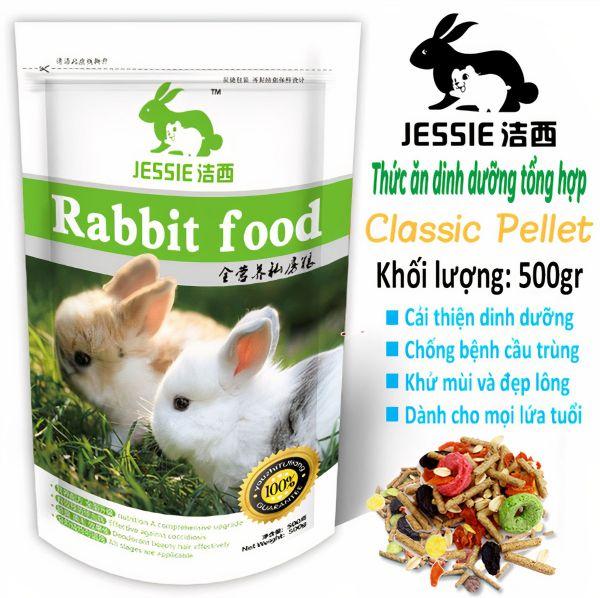 Thức ăn dinh dưỡng tổng hợp JESSSIE cho thỏ 500gr