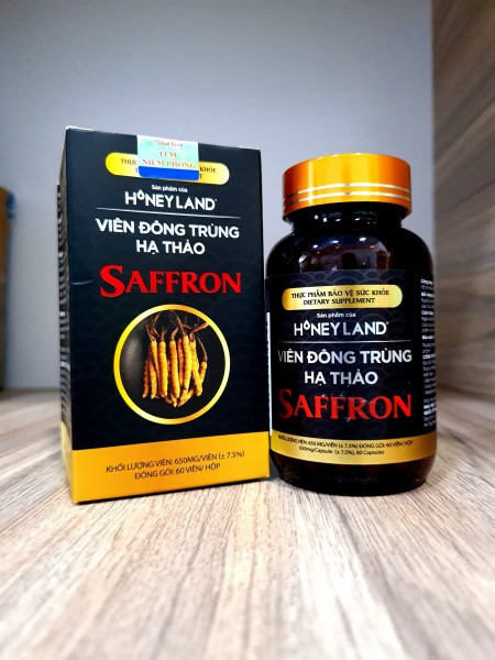 Viên đông trùng hạ thảo Saffron 60 viên cao cấp