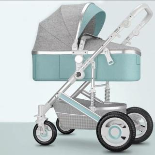Xe đẩy, xe nôi đẩy cao cấp 2 chiều 3 tư thế có giảm xóc - Xe đẩy trẻ em, xe đẩy cho bé có thể gấp gọn. KAWAII HOME thumbnail
