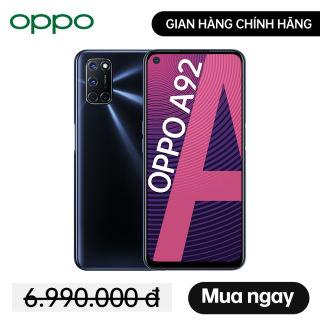TRẢ GÓP 0% Điện thoại Oppo A92 (8GB/128GB) - Màn hình lớn 6.5'' 3 Camera sau 12MP Mở khóa vân tay Mở khóa khuôn mặt - Hàng chính hãng bảo hành 12 tháng