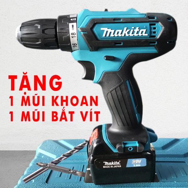[Giá Sốc] Máy khoan Pin MAKITA 21V - [TẶNG MŨI KHOAN + MŨI BẮT VÍT ] - Máy khoan cầm tay - Máy bắt vít