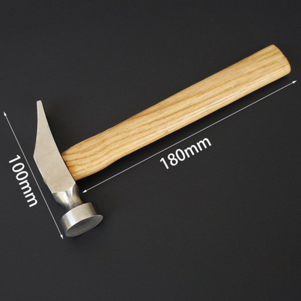 1Pcs Cobbler Shoe Repair Hammer Wood Handle Leather Work Shoemaking Repairing Remmending Shoe Tool