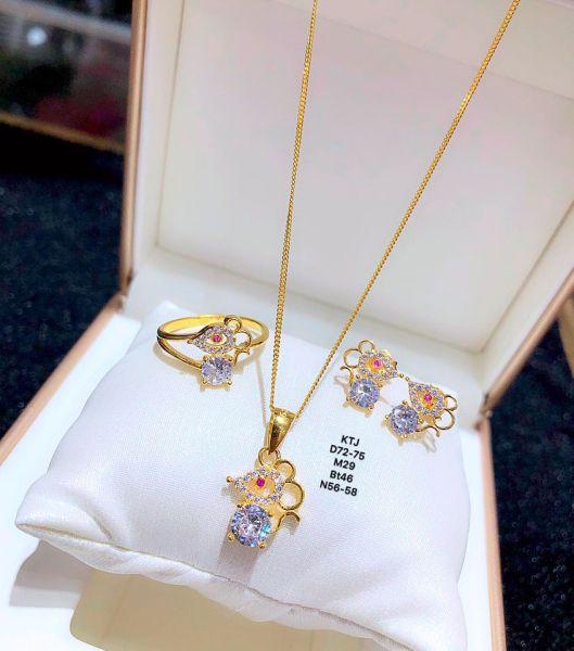 Bộ trang sức vàng 10k chuột BTS48