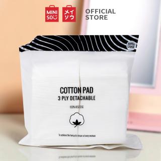 Bộ bông tẩy trang bằng bông cao cấp 3 lớp bề mặt mềm mịn Miniso (150 tờ) bong tay trang bông tây trang bông tẩy trang miniso bông tẩy trang mỏng cotton pad thumbnail