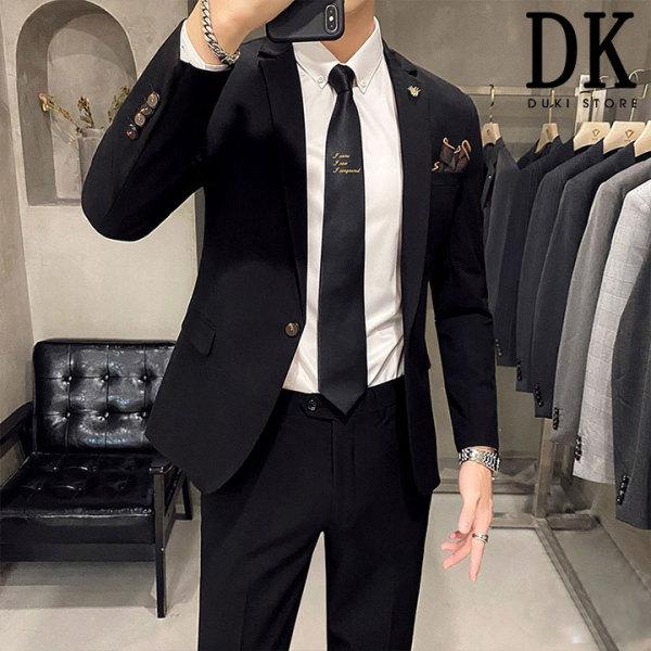Bộ vest nam Hàn Quốc màu đen sang trọng giá tại xưởng - DUKI STORE