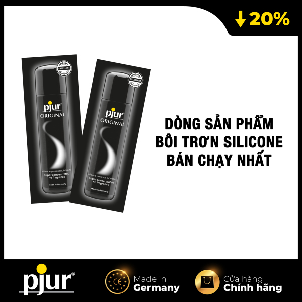 Combo 2 Gel bôi trơn silicone pjur ORIGINAL 1.5ml