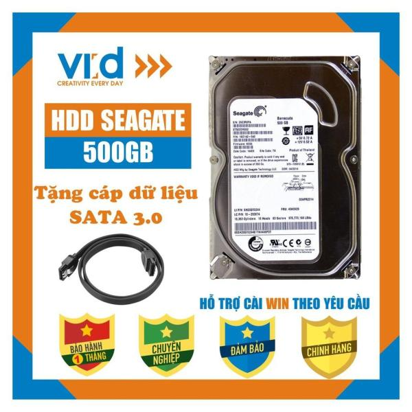 Giá Ổ cứng HDD 500GB Seagate - Tặng cáp sata 3.0 - Hàng tháo máy đồng bộ nhập khẩu mới 98% - bảo hành 1 tháng