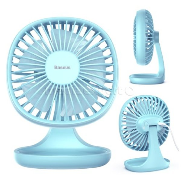 Quạt mini để bàn Baseus Pudding-Shaped Fan (3 tốc độ - Air Cooling Fan Clip Desk Fan)