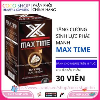Bổ thận tráng dương MAX TIME hộp 30 viên HSD 2023 tăng cường sinh lý nam giới thumbnail