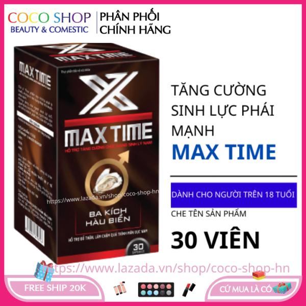 Bổ thận tráng dương MAX TIME  hộp 30 viên HSD 2023 tăng cường sinh lý nam giới giá rẻ