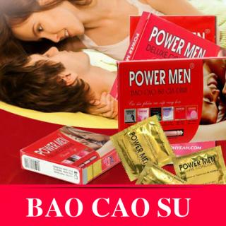 Hộp 24 chiếc hoặc hộp 48 chiếc TUỲ CHỌN - Bao cao su siêu mỏng không gai Powermen gia đình - Bcs gia đình giá rẻ thumbnail