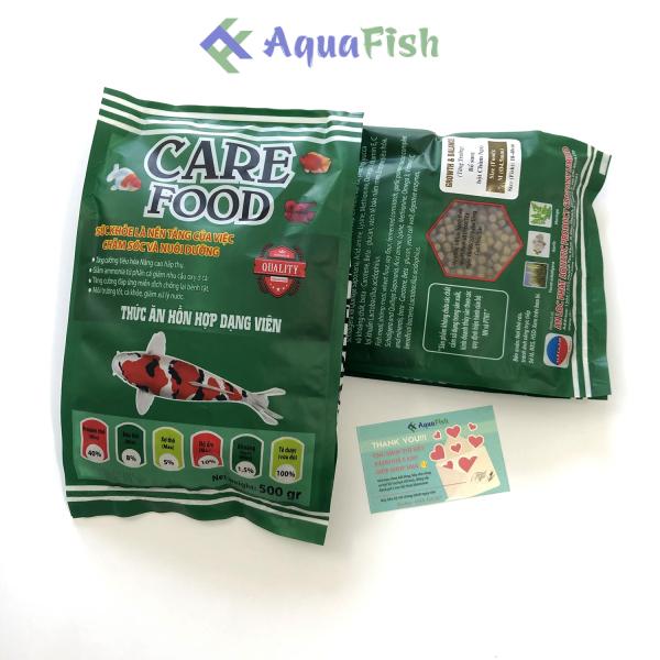 Thức Ăn Cho Cá Koi Care Food 500g Giúp Koi Tăng Trưởng, Tăng Màu, Phát Triển Khung Xương Và Không Làm Đục Nước