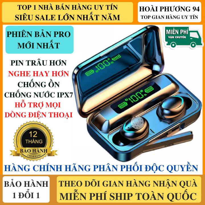 Tai Nghe Bluetooth F95 Phiên Bản NÂNG CẤP Pin 3500 maH Micro HD 2 Bên, Chống Ồn, Chống Nước, Hỗ Trợ Mọi Dòng Máy - Tai nghe bluetooth pin trâu - Tai Nghe nhét tai không dây amoi f9 - Tai nghe bluetooth không dây