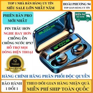 Tai Nghe Bluetooth F95 Phiên Bản NÂNG CẤP Pin 3500 maH Micro HD 2 Bên, Chống Ồn, Chống Nước, Hỗ Trợ Mọi Dòng Máy - Tai nghe bluetooth pin trâu - Tai Nghe nhét tai không dây amoi f9 - Tai nghe bluetooth không dây thumbnail
