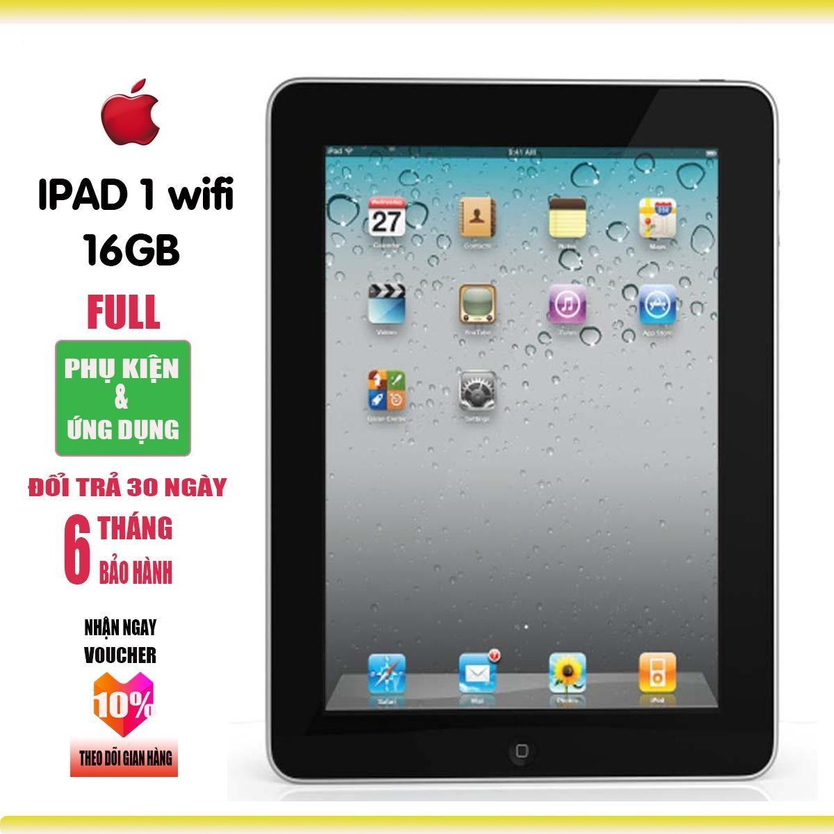 Máy tính bảng iPAD1 - 16GB - Bảo hành 6T - Full ứng dụng - Full phụ kiện - Everything Store Nhật Bản