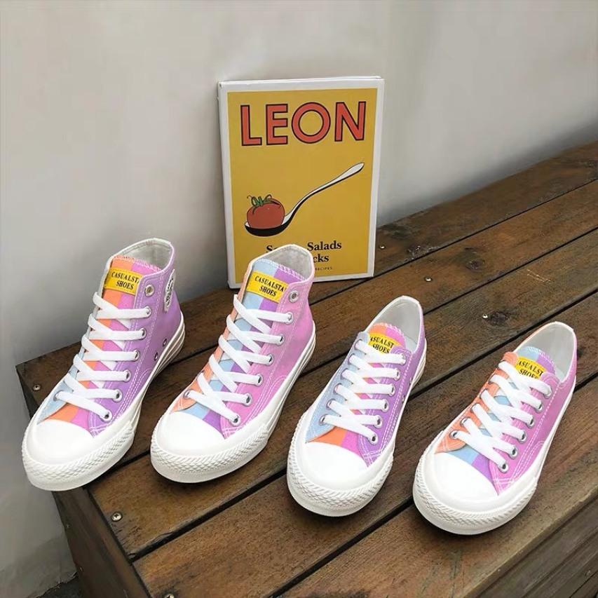 full box-giày thể thao nữ cổ cao ra nắng đổi màu cực lạ fom nhỏ tăng 1 size giá rẻ