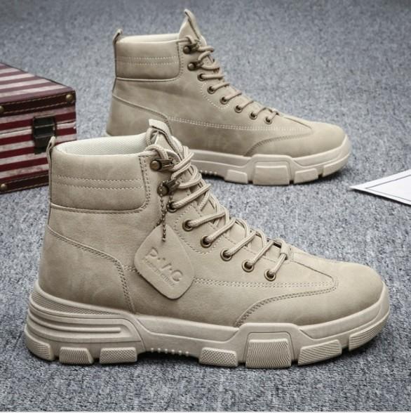 Giày nam cổ cao SP - 307, giày bốt nam cổ khóa sành điệu HOT 2020 giá rẻ