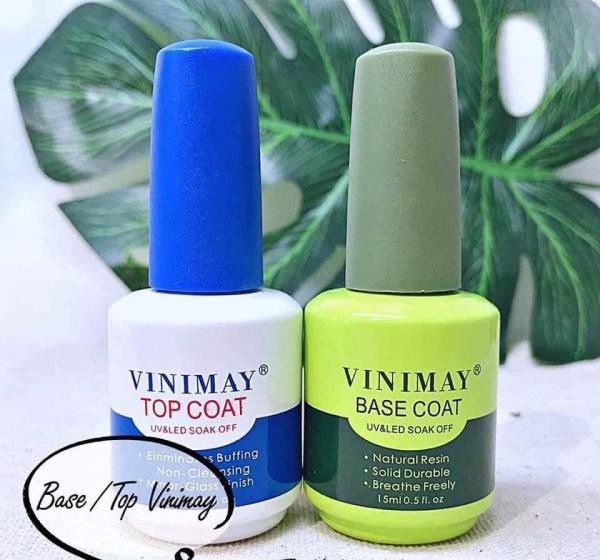 Combo hai chai sơn liên kết và top bóng vinimay dùng chăm sóc trang trí móng nailart giá rẻ
