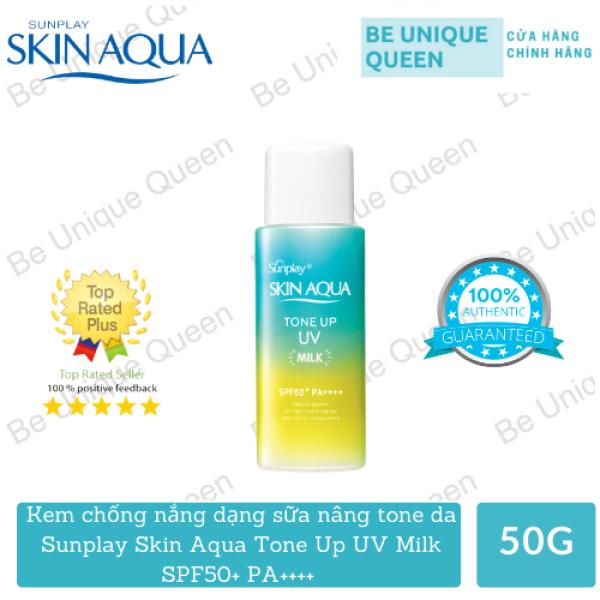 Kem chống nắng Sunplay Skin Aqua Tone Up UV Milk SPF50+ PA++++ 50g