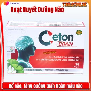 Hoạt Huyết Dưỡng Não Ceton Brain - Giúp Làm Tan Huyết Khối, Giảm Cholesterol Máu, Giảm Nguy Cơ Di Chứng Sau Tai Biến thumbnail