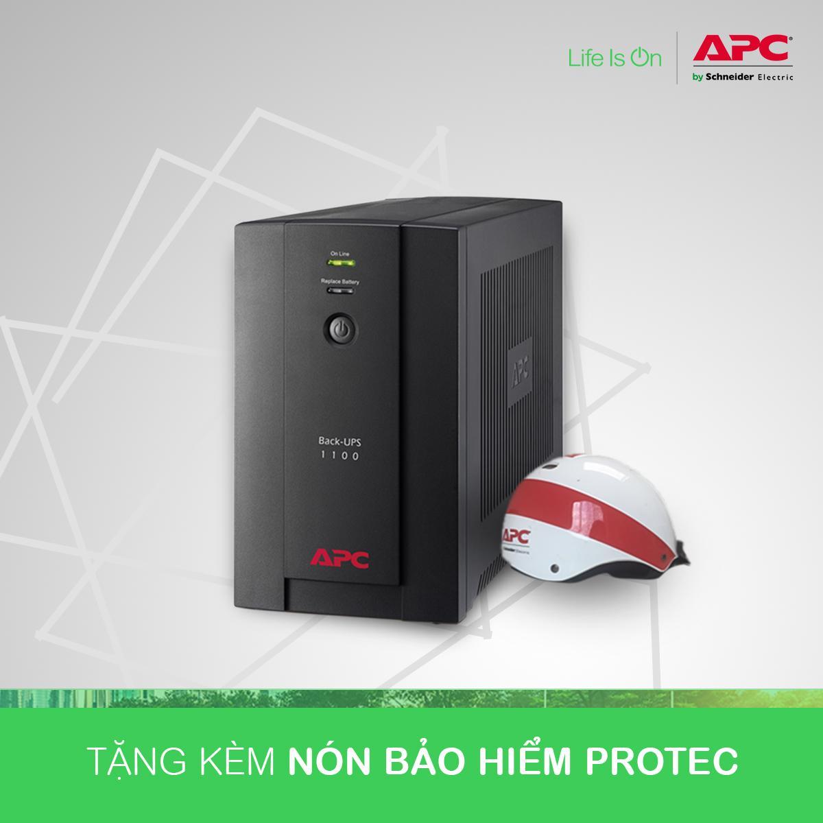 Bảng giá [Khuyến Mãi] - Bộ lưu điện:  Back-UPS 1100VA, 230V, AVR, Universal and IEC Sockets - BX1100LI-MS Phong Vũ
