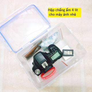Combo hộp chống ẩm 4 lít kích thước nhỏ gọn cho máy ảnh mirrorless và máy film