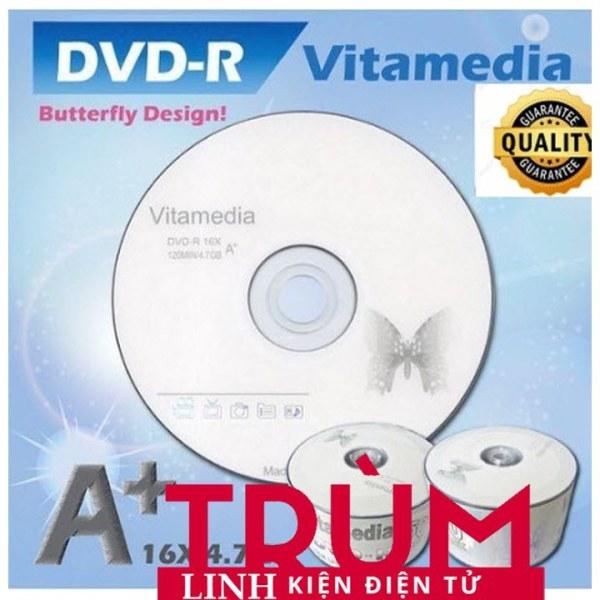 Bảng giá Free Ship- Đĩa dvd trắng ,Đĩa trắng DVD Vitamedia 1 lốc 50 cái 47G  - Hàng Loại Tốt Phong Vũ