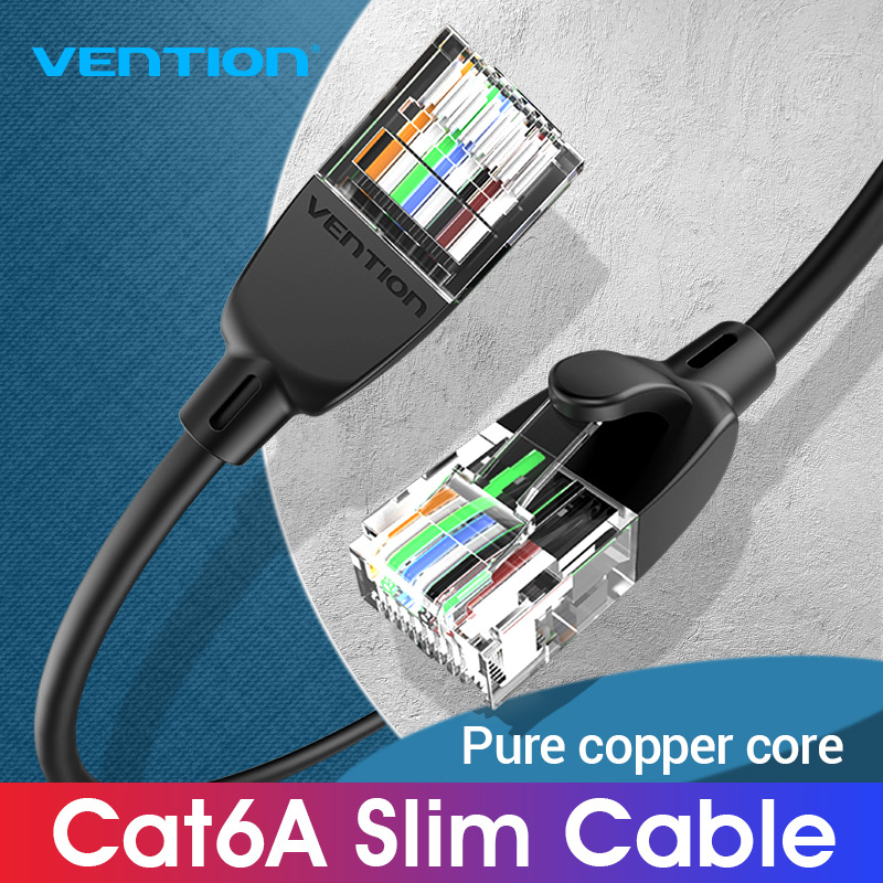 Bảng giá Vention dây cáp mạng lan Cat 6A Ethernet Cable 10Gbps UTP RJ45 Slim Ethernet Patch Cable Compatible dây Cat6A Intrenet Patch Cord for Modem Router Cat 6A Ethernet Cable Phong Vũ