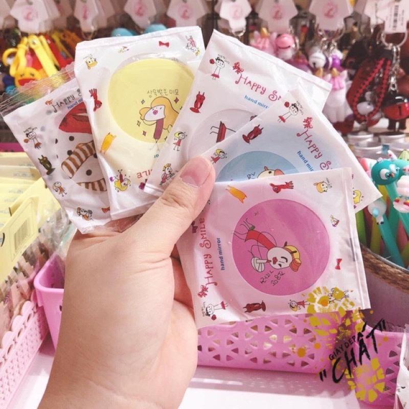[lẻ như sỉ] 5 Gương Mini Cầm tay Hàn Quốc Cao Cấp hàn quốc, Gương soi trang điểm cầm tay, gọn nhẹ giá rẻ