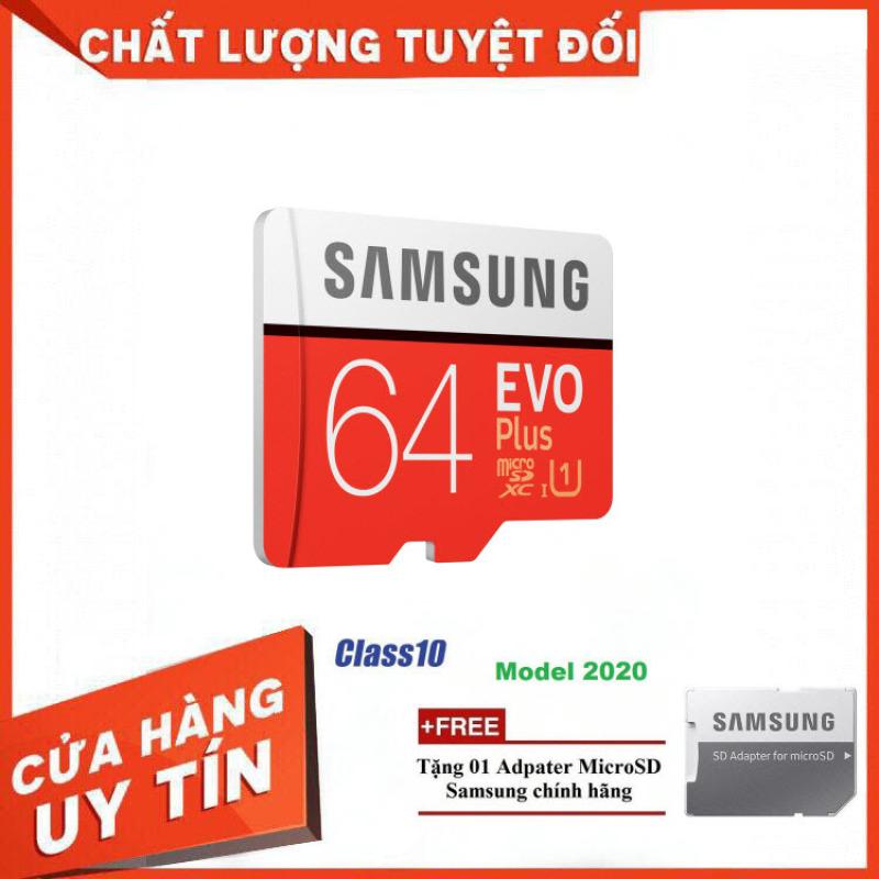 Thẻ Nhớ MicroSDXC Samsung EVO Plus U1 64GB 100MB/s MB-MC64H 2020 - Bảo Hành 5 Năm