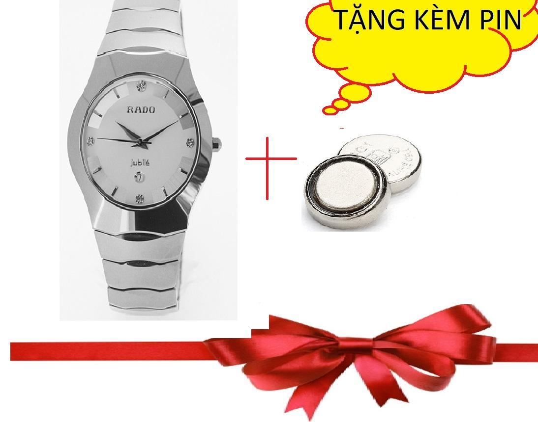 Đồng hồ RADO mặt trắng dây trắng lịch lãm sang trọng bán chạy