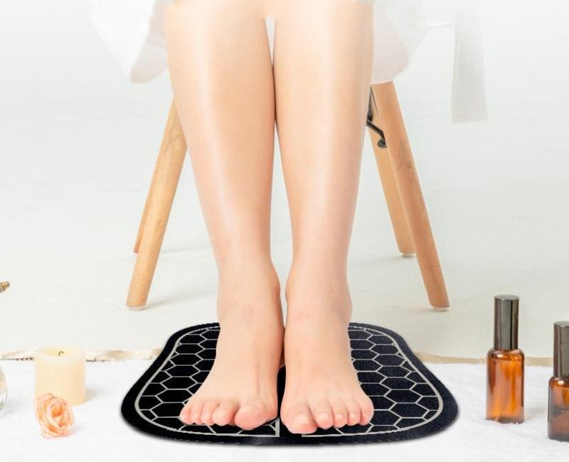 Máy mát xa, Máy massage chân trị liệu xung điện từ giúp thư giãn & lưu thông khí huyết ( mua 1 tặng vòng tì hưu )