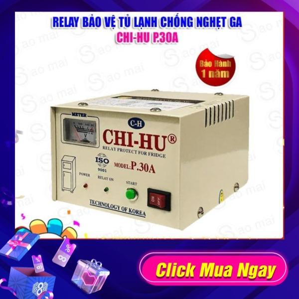 Relay (Ổn áp) bảo vệ tủ lạnh cao cấp CHI-HU 30A ( trắng )