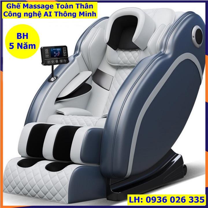 ghế massage máy mát xa toàn thân kiểu phi thuyền không trọng lực bảng điều khiển LCD cảm ứng cỡ lớn loa nhạc bluetooth